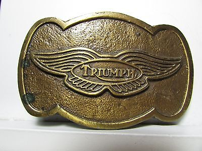 Vintage Belt Buckle Triumph Motorcycles winged logo motorcycle