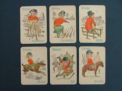 Vintage Happy Families Sporting Playing Cards Complete Set Of 36
