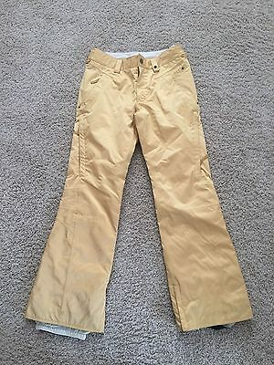 Burton Womens Dry Ride Snowboard Pants Yellow Small