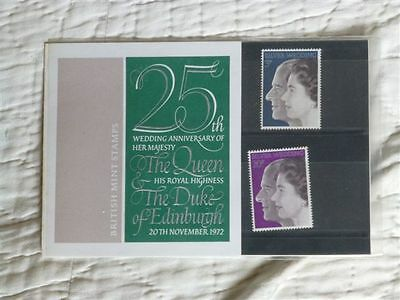 Presentation Pack - 25th Wedding Anniversary – The Queen – 1972