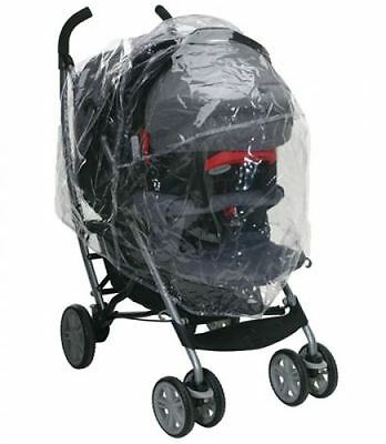Pushchair/Travel System Universal ZIPPED Raincover fits Graco, OBaby etc