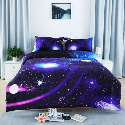 New Galaxy Doona Quilt Duvet Cover Set Double Queen King Size Bedding Covers Set
