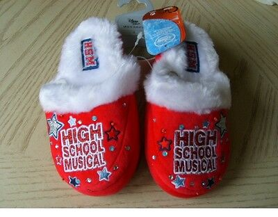 Disney High School Musical Childrens Slippers Size 9 - 10 Brand New With Tag Uk