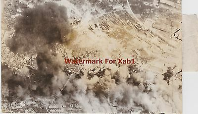 WW2 1944 Press Photo German Gasoline Dump in Italy Expodes under Allied Attack