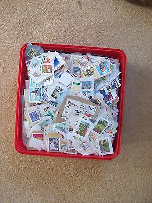 Box of commonwealth stamps around 850gms on paper great sorter!!!!