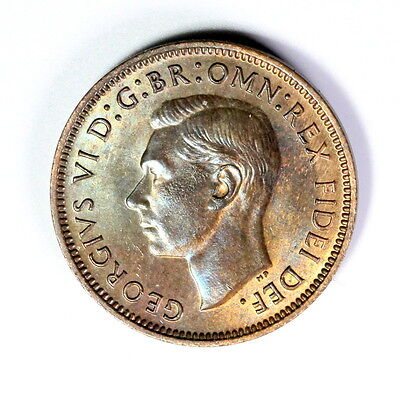 1951 George V  Farthing,unc, Super Coloured Lustre A28 1/4 Penny ,see Photos