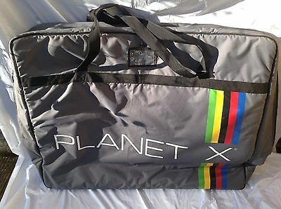 Planet X Grey Bicycle Travel Bag - L'eroica - Used Good Condition