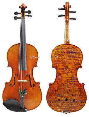 * New Musical Instruments Size 4/4 Royal Castle Carved Pattern  Spruce Violin
