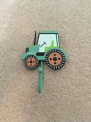 Green Tractor Wall Hook