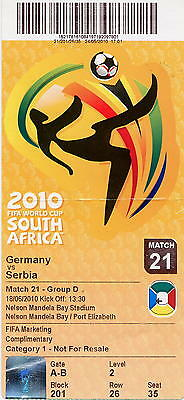 2010.06.18 - FIFA World Cup - Germany - Serbia - orig. ticket