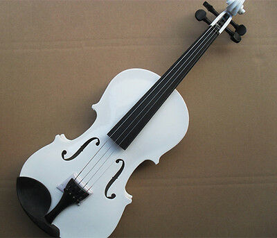 * New White Musical Instruments Basswood Beginner Violin 1/4 3/4 4/4 1/2 1/8