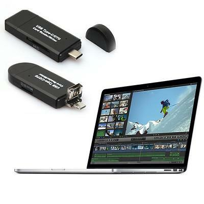 USB-C Type C/USB 2.0/Micro USB/OTG TF SD MMC Card Reader for Phone Macbook 1PC