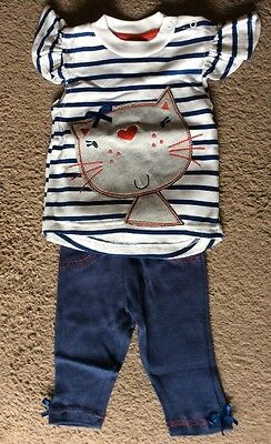 Girls Lily And Jack 3/6 Months  Baby 2 Piece Cat Set
