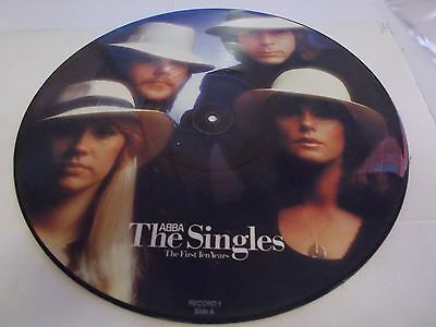 Abba Picture Disc Lp The Singles First Ten Year's Epic Records 1982