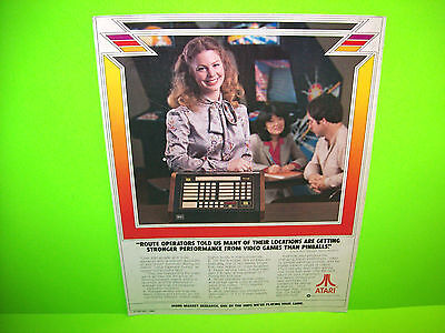 Atari 1980 Vintage Promo Advertising Not A Sales Flyer Route Operators Told Us..