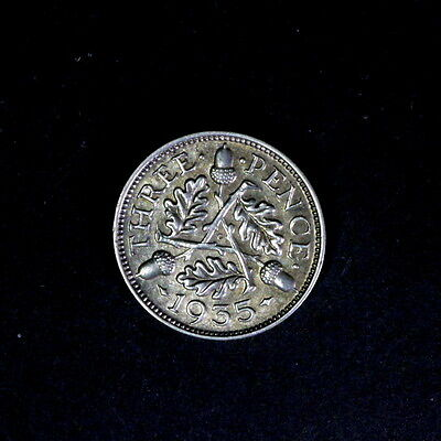 1935 George V  Silver Threepence, In Better Condition,a102