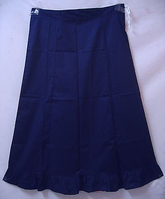 Navy Blue Pure Cotton Frill Petticoat Skirt Also Buy Top Tops Blouse Gift #399IV