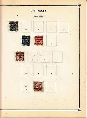 UNITED STATES OF AMERICA Minneapolis., Pre-cancels on Page Removed for Shipping