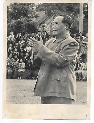 Chinese The Great Cultural Revolution Mao's old original photo 15x20 cm