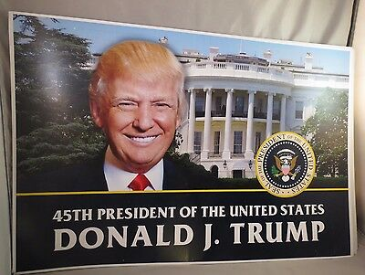 Lot Of 4 Trump 45Th President Of The United States Usa 2016 White House Signs T