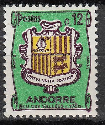 Timbre Andorre France Neuf  N° 155 A **  Armoirie