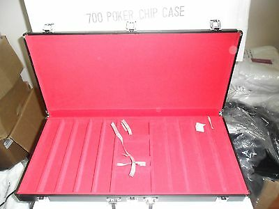 700 Chips Poker Dice Texas Hold'em Aluminum Case HOLDS CHIPS DICE CARDS *IN BOX*