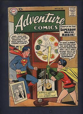 Adventure comic 253 silver age dc Superman Superboy  robin Kirby green Arrow
