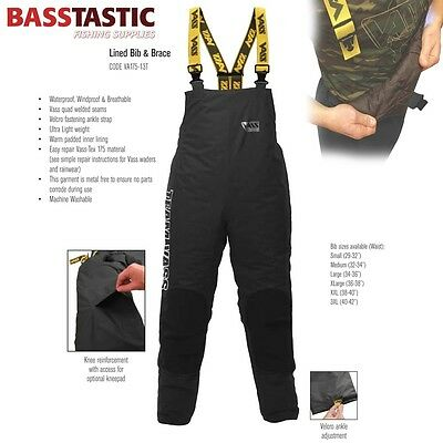 175 TEAM VASS WINTER EDITION Fishing Waterproof Breathable BIB & BRACE- NEW 2017