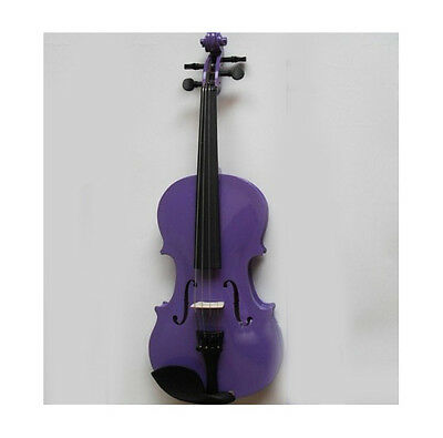* New Purple Musical Instruments Basswood  Beginner Violin 1/4 3/4 4/4 1/2 1/8