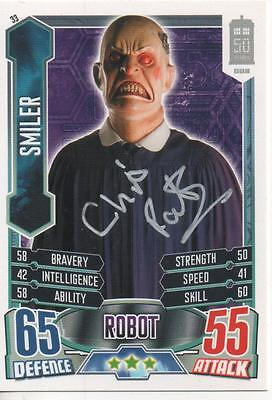 "Dr Who Topps 50th Anni Alien Attax  Auto Trading Card Chris Porter ""Smiler"""