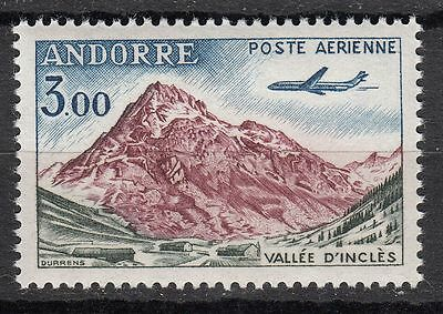 Timbre Pa  Andorre France Neuf  N° 6 * Avion Caravelle