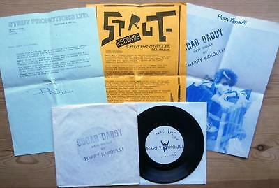 """HARRY KAKOULLI sugar daddy UK 1983 7"""" rare W/L PROMO +P/R SYNTH SQUEEZE PUNK"""