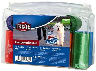 Trixie Dog Dirt Bags 14 Rolls x 15 Bags On A Roll (210 Bags) Dog Poo Bags T23478