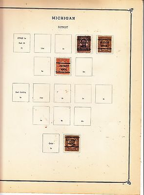 UNITED STATES OF AMERICA Detroit...,  Pre-cancels on Page Removed for Shipping