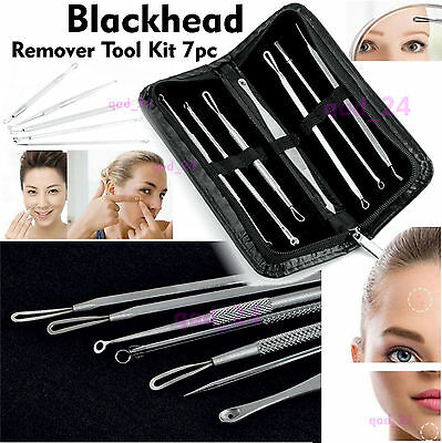 Blackhead TOOL KIT - Whitehead Pimple Acne Blemish Comedo Extractor Remover 7Pc