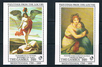 Gambia 1993 Paintings from Louvre 2xMS SG 1451 MNH