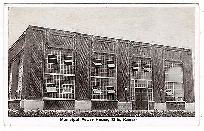 Early Postcard - Municipal Power House Ellis - Kansas USA