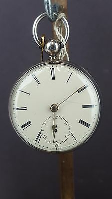 Antique Solid Silver Cased Fusee Pocket Watch - Chester 1848 - Working Great !