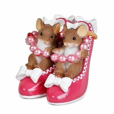 Charming Tails 'Sole Sisters' Mice in Shoes Mouse Figurine Ornament, 89373