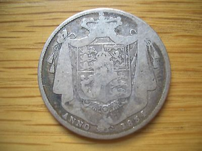 1834 Half Crown William Iiii From A  Coin Collection Find