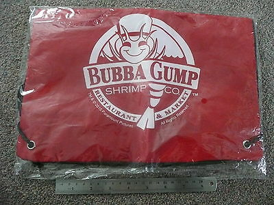 Bubba Gump Drawstring Bag Zip Fastening Backpack New Red In Cellophane