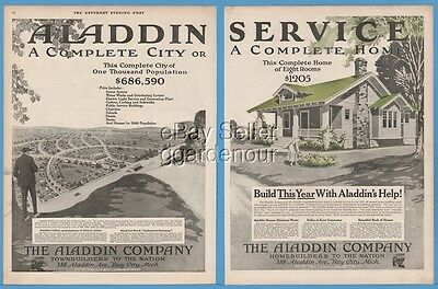 1918 Aladdin Bay City Michigan Complete Home or City House Homebuilders Ad