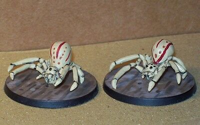 2 Giant Crab Spiders 28mm Otherworld Miniatures