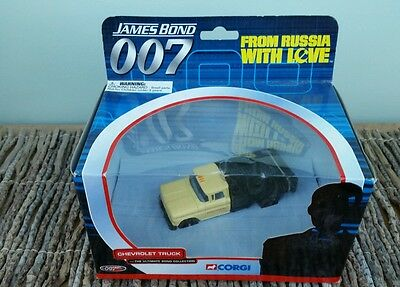 CORGI  - JAMES BOND 007 - CHEVROLET TRUCK 'FROM RUSSIA WITH LOVE'' Car in Box