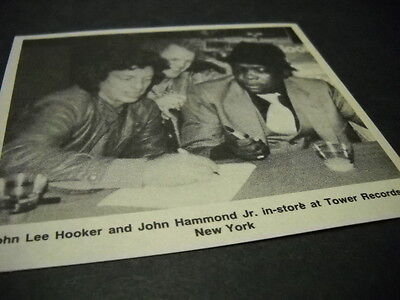 JOHN LEE HOOKER & JOHN HAMMOND JR. at Tower Records in NYC 1984 promo image/text