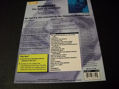 MORRISSEY original 2001 promo marketing plan page THE BEST OF mint condition