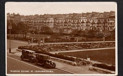 WARRIOR SQUARE ST LEONARDS RP + CARS  withPostage Due 2d 342 HASTINGS