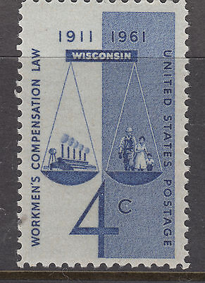 UNITED STATES 1961 4c Workers Comp.  Mint Unhinged