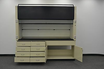 8' Labconco Laboratory Fume Hood with Base Cabs and Epoxy Top  - H411