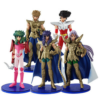 1x Fun Hot Anime Saint Seiya PVC Figure Collectable Set of 5pcs Type Xmas Gift